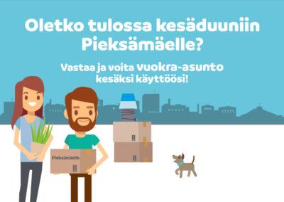 Pieksämäen yrityspalveluiden Facebook-kampanjan mainoskuva 2019